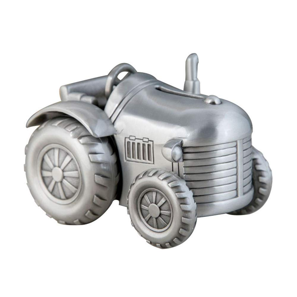 MQW Metal Creative Small Four-Wheel Tractor Piggy Bank Planter Change Piggy Bank Furniture Decorations Kids Gifts Delicate and Beautiful by MQW