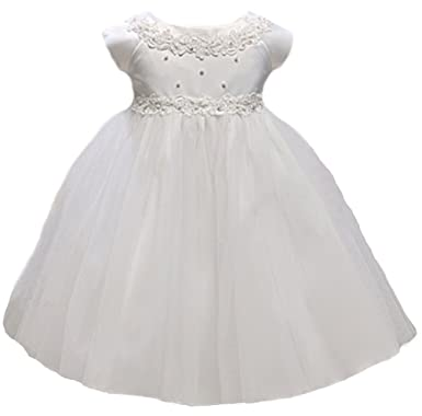 Amazon kid collection baby girls princess tulle flower girl kid collection baby girls princess tulle flower girl dress white s mightylinksfo