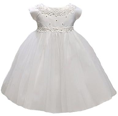 Amazon kid collection baby girls princess tulle flower girl kid collection baby girls princess tulle flower girl dress white s mightylinksfo