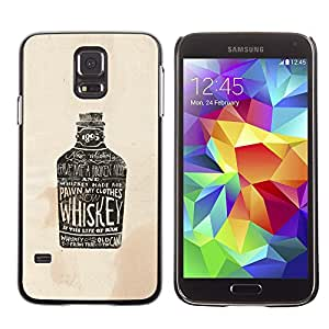 GOODTHINGS ( NO PARA S5 Mini ) Funda Imagen Diseño Carcasa Tapa Trasera Negro Cover Skin Case para Samsung Galaxy S5 SM-G900 - fiesta bebiendo whisky marrón borracho