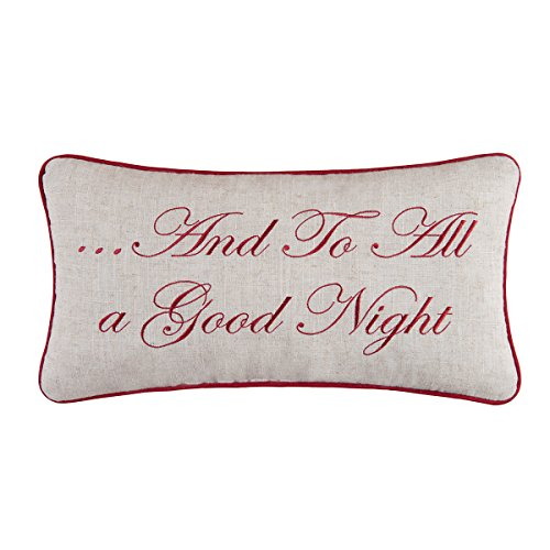 C F Enterprises And To All A Good Night Holiday Throw Pillow