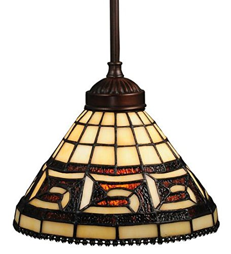 Meyda Tiffany 109063 Greek Key Mini Pendant Light Fixture, 8
