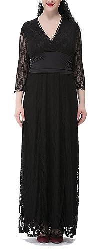 Lace Maxi Dress,Women's Plus S...