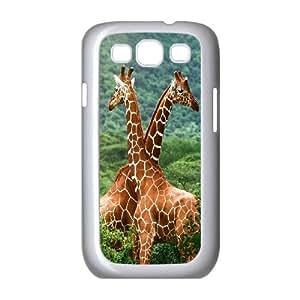 Cut giraffe series protective cover For Samsung Galaxy S3 A-giraffe-S52386