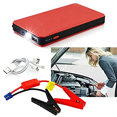 Red 12V 20000mAh Multi-Function Car Jump Starter Power Booster Battery Charger FSS,