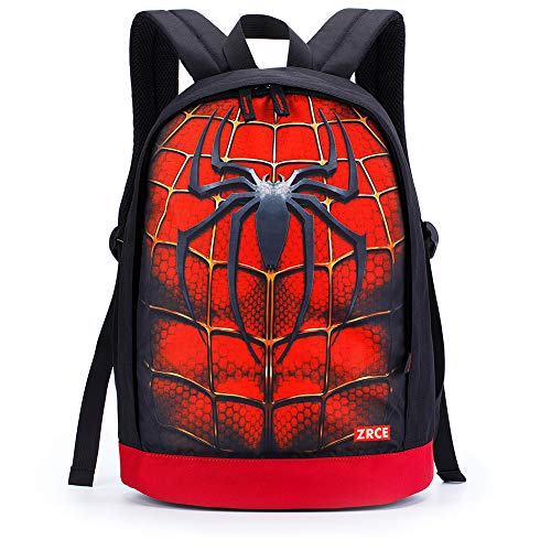 Price comparison product image GERGER BO 3D Spiderman Backpack, Spiderman Backpack for Men Digital Pinted Waterproof School Bags for Students