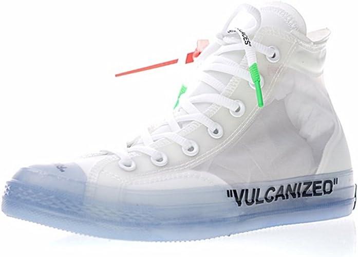 Zapatillas Altas Sneakers Zapatillas de Moda Running Zapatos Deportivos Baloncesto Casual Zapatillas de fútbol Hombre Mujer Unisex Adulto Transparente Blanco/Negro/Azul: Amazon.es: Zapatos y complementos