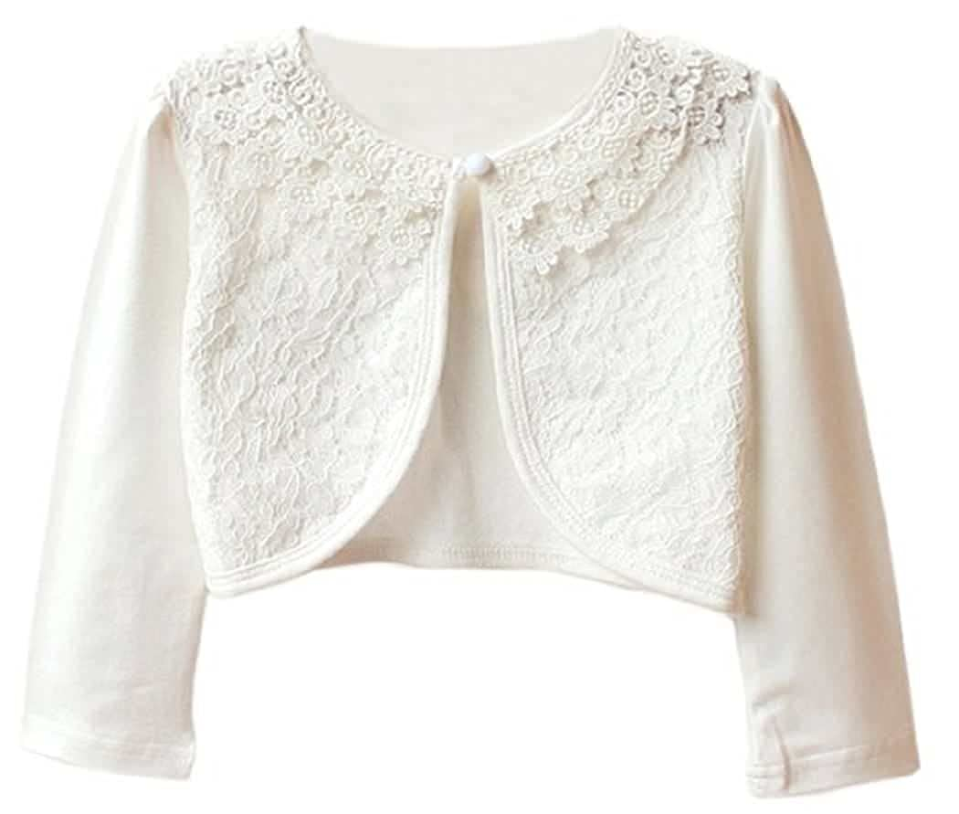 BluNight Collection Long Sleeve Lace Cardigan Shrug Little Girl Special Occasion Bolero