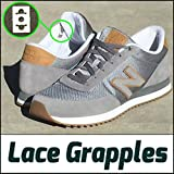 4 LACE GRAPPLES for 2 Shoes - No Tie Shoelace Anchor System