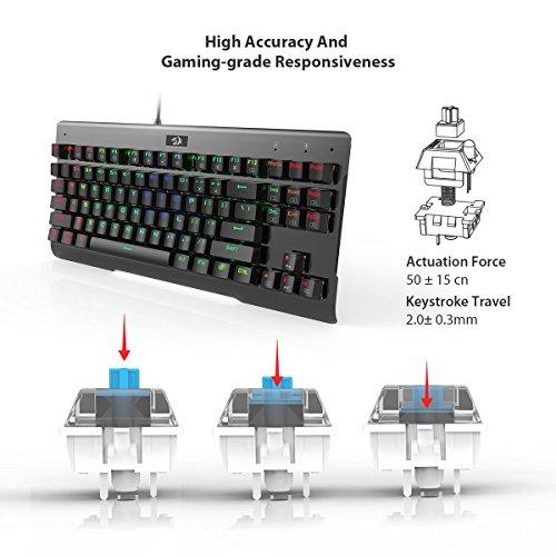 Redragon K561 VISNU 87 Keys Anti-ghosting RGB Backlit Waterproof Mechanical Gaming Keyboard with Clicky Blue Switches