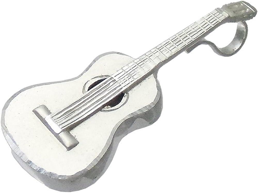 Colgante plata ley 925m guitarra española 42mm. [AB0499]: Amazon ...