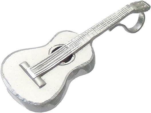Colgante plata ley 925m guitarra española 42mm. [AB0499 ...