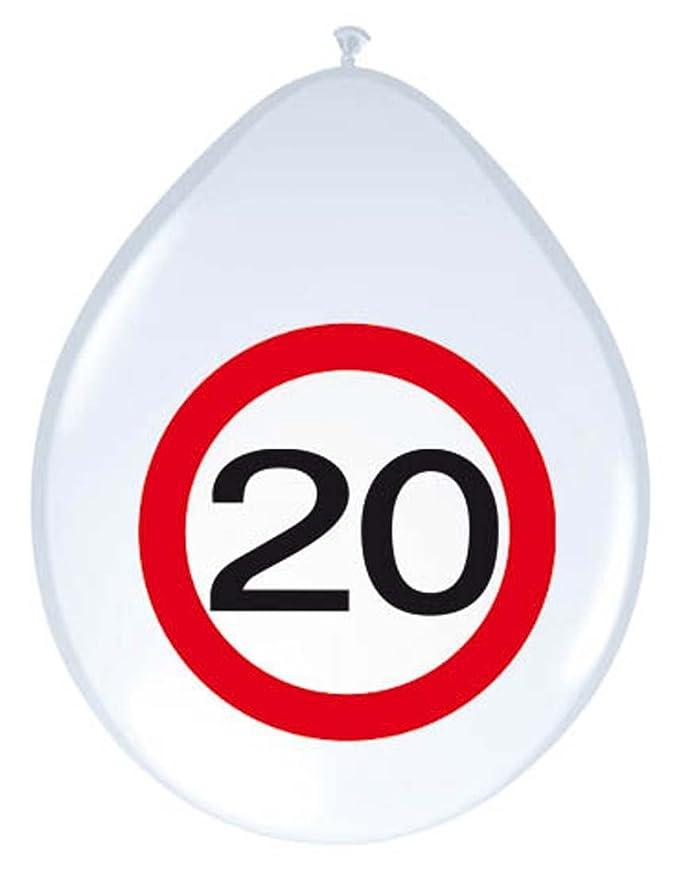 NET TOYS Globo 20 cumpleaños señal de tráfico 30 cm Balón de Aire ...