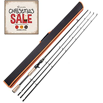 Entsport Rattlesnake 2 Piece 7' Feet Casting Rod