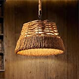HQLCX Chandelier Loft Nordic Retro Clothing Store Cafe Bar Chandelier Rope