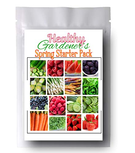 Healthy Gardeners - Combo Pack Raspberry, BlackBerry, Spinach, Strawberry, and More 1,845 Seeds - 21 Varieties ()