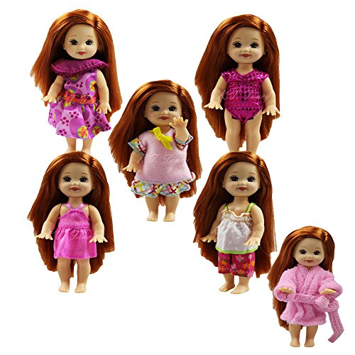Kelly Doll Clothes (5 Handmade Summer Fashion Party Outfit (5 Clothes ) for Barbie's Sister Kelly Size)