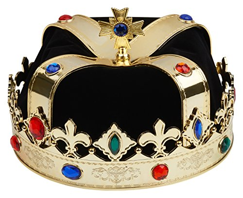 Royal Crown for King Queen (Black and Gold) ()
