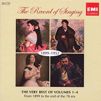 3c8145f14a The Very Best of The Record of Singing Volumes 1-4 (1899-1952) (10CD ...