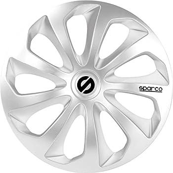 Sparco SPC1470SV Sicilia Wheel Covers, Silver, Set of 4, 14