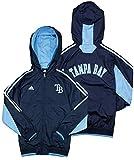 Tampa Bay Devil Rays MLB Big Boys Lightweight Hooded Jacket - Navy Blue