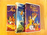 Beauty and the Beast, Lion King, Aladdin: 3 videos like new