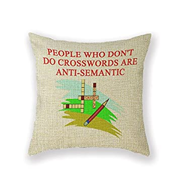 Customized Standard New Arrival Pillowcase Crossword Funny Boggle