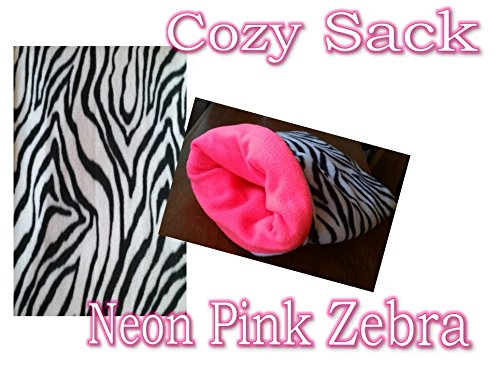 Fleece Cozy Sack for Both Snuggling Your Pet and a Pet Bed. For Guinea Pigs, Chinchillas, Hedgehogs and Other Small Animals. MADE IN THE U.S.A for the highest quality material/durability possible! NPZ