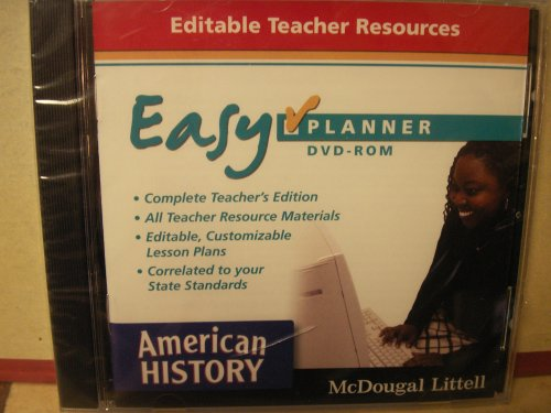 American History Easy Planner: Editable Teacher Resources