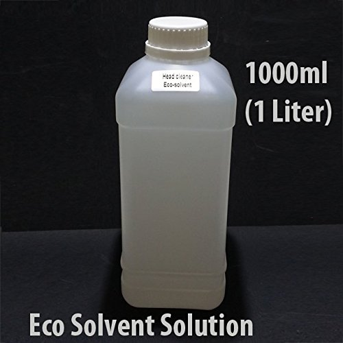 Eco Solvent Cleaning Solution1000 ml (1 Liter) For Mimaki Roland Mutoh Epson Ink Line Head Flushing Liquid ()