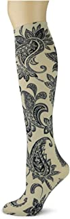 product image for Sox Trot PAISLEY PERFECTION/FOSSIL - Printed Nylon Knee-Hi's