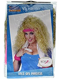 California Costumes Women's Let's Get Physical Wig Headband and Sweat Band Set