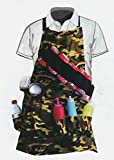 Set of 2 GRILL'EM Sergeant BBQ Apron Camouflage with drink holders and pockets, Barbecue camouflage apron Universal size 2 pack
