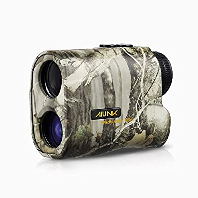 Hunting Rangefinder 6x Laser Monocular 540 Yards Range and Speed Scan, Yard/Meter Unit Shift, Eye-safe, Built-in LCD, Two Button Easy Operation for Hunting Archery Bow, AILINK Wild Hunter 500 Upgraded from Ailink
