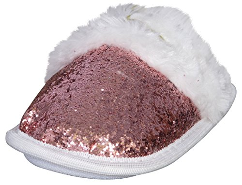 bebe-girls-glitter-slippers-with-faux-fur-rose-gold-white-size-13-1
