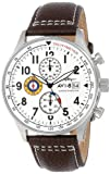 AVI-8 Men's AV-4011-01 Hawker Hurricane Stainless Steel Watch with Leather Band