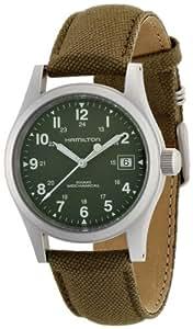 Hamilton Men's H69419363 Khaki Field Mechanical Officer Watche