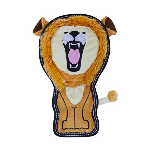 - Invincibles Tough Seamz Stuffingless Durable Tough Plush Toy for Dogs, Tough Squeaky Dog Toy by Outward Hound, Medium, Lion