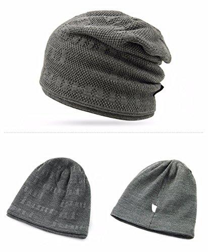 de punto con Gorro de caqui cálido terciopelo de lana invierno aZpO7q