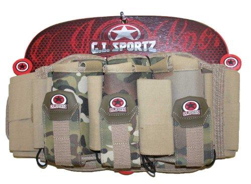 G.I. Sportz Paintball 3+4 Glide Pack Harness - Desert by GI Sportz