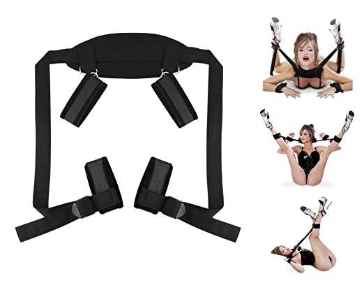 Soft Comfortable Cuffs Couples Play Toy with Adjustable Support Sling Straps