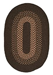 Madison Oval Area Rug, 3 by 5-Feet, Roasted Brown
