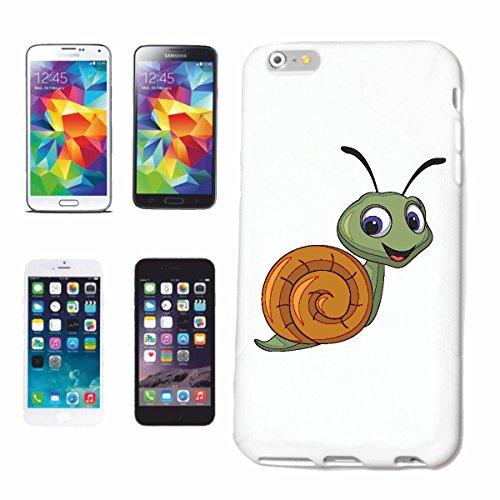"""cas de téléphone iPhone 6S """"FUNNY ESCARGOT AVEC Schneckenhaus WORM VIGNOBLE ESCARGOT patelle SNAILS NUES"""" Hard Case Cover Téléphone Covers Smart Cover pour Apple iPhone en blanc"""