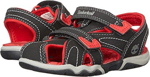 Timberland Adventure Seeker Closed Toe T Dress Sandal (Toddler/Little Kid),Black/Red,11 M US Little Kid