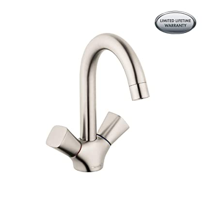 Hansgrohe 71222821 Logis Bathroom Faucet 150mm 8 6 Inch Brushed