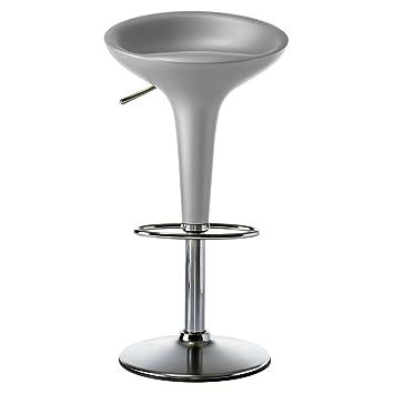 fbe8fd6d6cea Magis Bombo height adjustable bar stool swivel matt - metallic silver 1760  C: Amazon.co.uk: Kitchen & Home