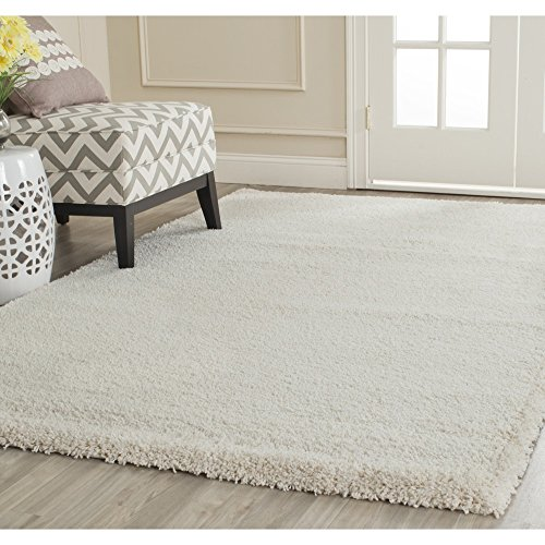 Safavieh Milan Shag Collection SG180-1212 Ivory Area Rug (3' x - White Area Rug
