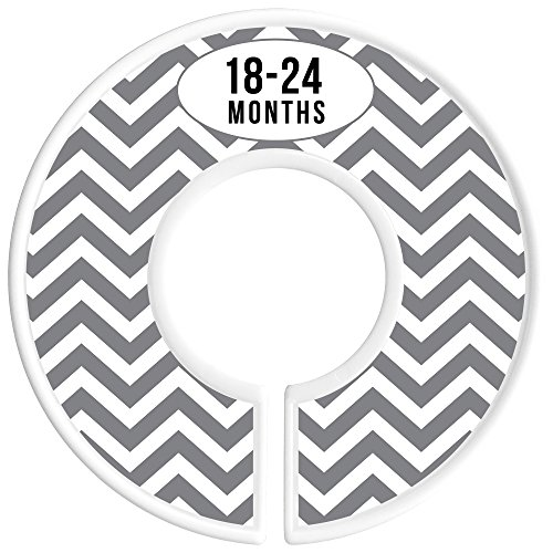 Delicush Baby Closet Dividers, Stripe, Chevron, Set of 6 Size Organizers, Nursery Closet Organizers, Baby Size Dividers, Glossy Finish, Boy, Girl (Grey) by DELICUSH (Image #7)