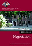 img - for Negotiation 2002/2003 (Blackstone Bar Manual) book / textbook / text book
