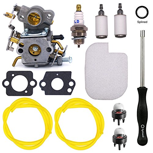 NIMTEK C1M-W26 Carburetor with Adjustment Tool Air Filter Fuel Line Spark Plug Repower Kit for Poulan P3314 P3416 P3816 P4018 PP3416 PP3516 PP3816 PP4018 PPB3416 PPB4018 PPB4218 S1970 42cc Power Gas C by NIMTEK